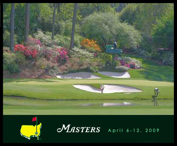 It's the Masters, honey! Honey, The Masters!